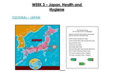 Week 3 – Japan, Health and Hygiene
